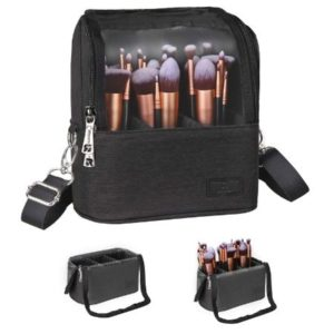 Professional Make Up Brushes & Cosmetics Bag
