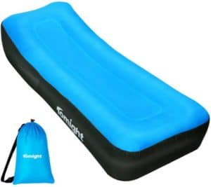 Waterproof Inflatable Lounger With Groove Design