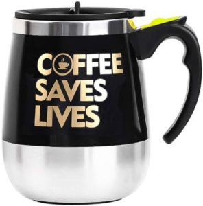 Auto Self Stirring Mug With Funny Quote