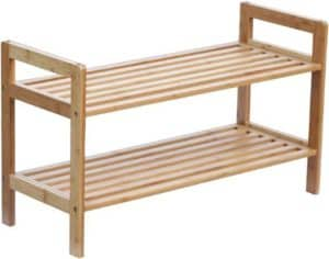 Classic Stackable Bamboo Shoe Rack