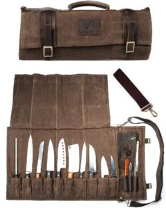 Professional Canvas & Leather Knife Roll