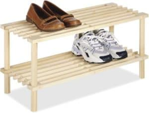 Small Wooden Shoe Rack For Entry Way