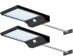 Solar Gutter Lights With Mounting Pole