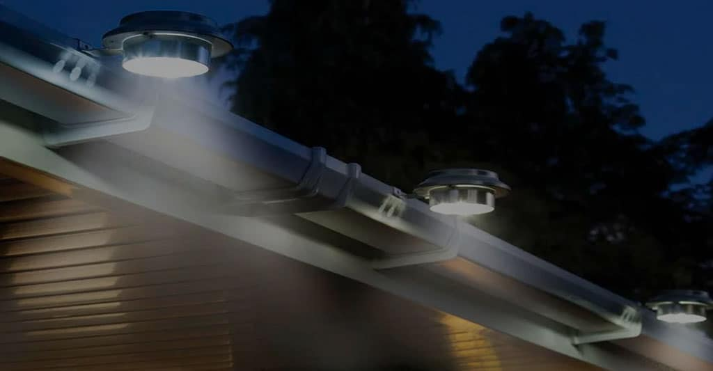 Solar Gutter Lights