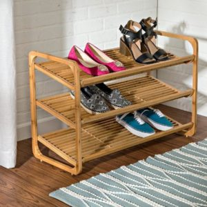 Stylish Bamboo Shoe Rack Shelf
