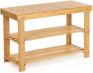 amboo Shoe Rack With Bench Design